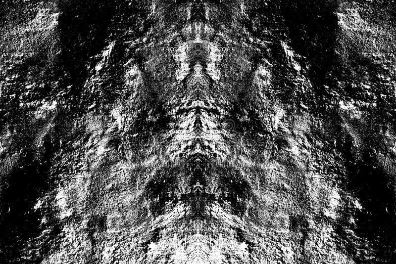 Symmetrisk svartvit textur för Grunge vertikalt Mörk riden ut samkopieringsmodell arkivbilder