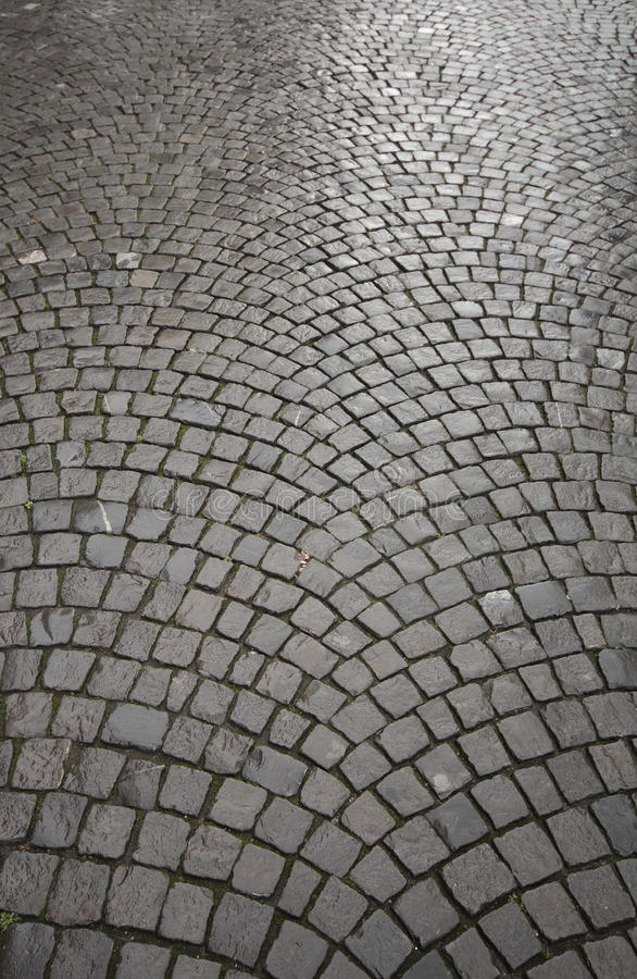 Symmetry in Cobbles. Cobbles from a European City royalty free stock images