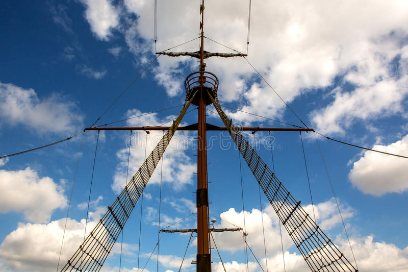 Download Symmetry main mast stock image. Image of transportation - 40165995