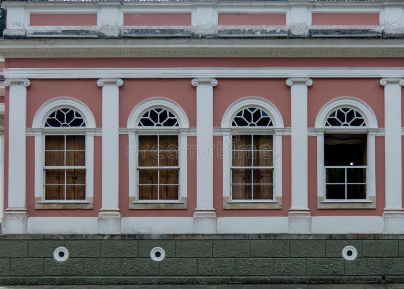 Symmetry at the Museu Imperial de Petrópolis. Petropolis, Rio de Janeiro, Brazil- May 17, 2018: The Imperial Palace in Petropolis exhibits a great deal of stock photos