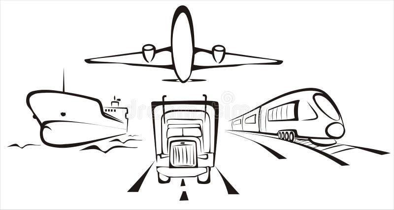 Symobol de transport illustration libre de droits