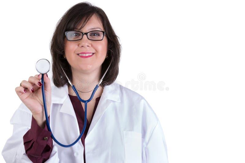 Sympathetic Healthcare Intern With Stethoscope Stock Photo