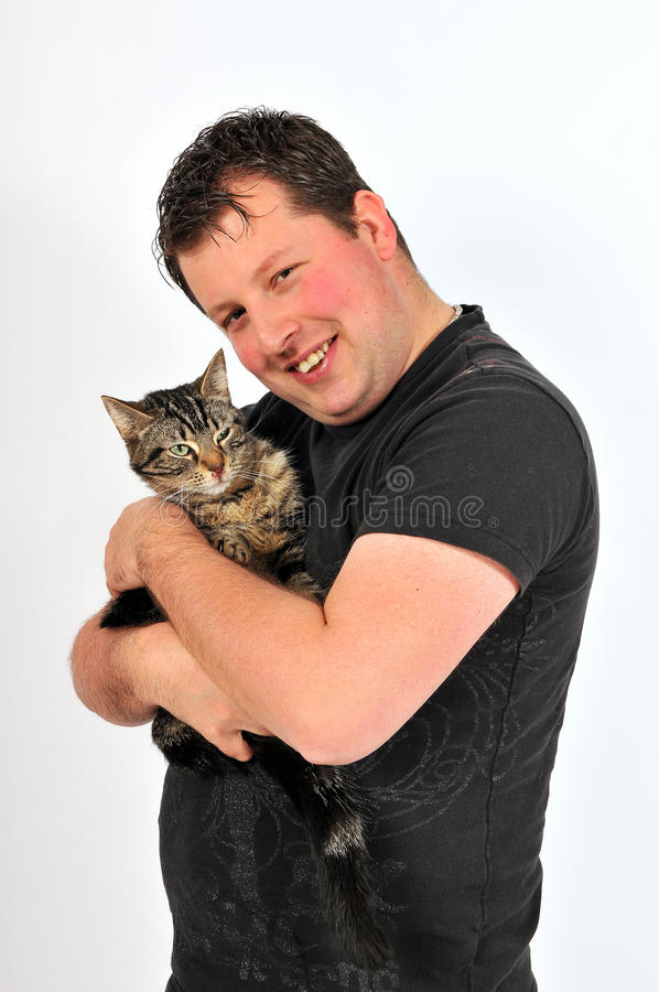 Download Sympathetic man 36 stock image. Image of people, cats - 16924681