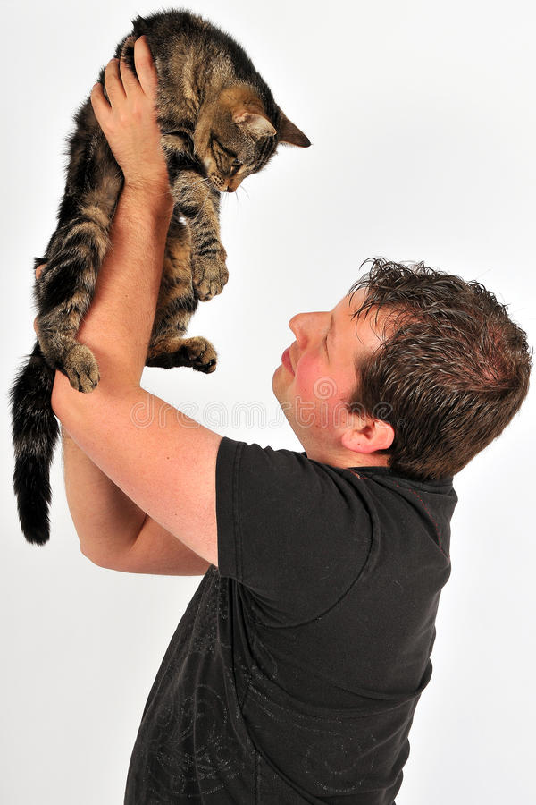 Download Sympathetic man 38 stock image. Image of people, cats - 16924703
