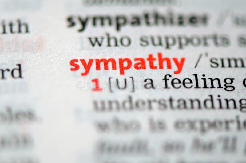 SYMPATHIE. royalty-vrije stock foto