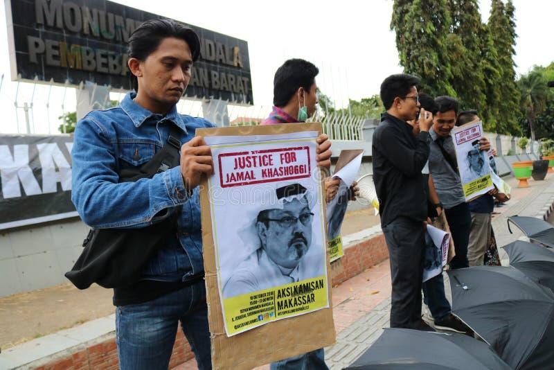 Sympathie voor de dood van Jamal Khashoggi royalty-vrije stock fotografie