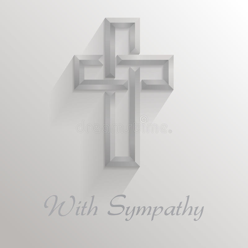 With Sympathy Card vector illustration