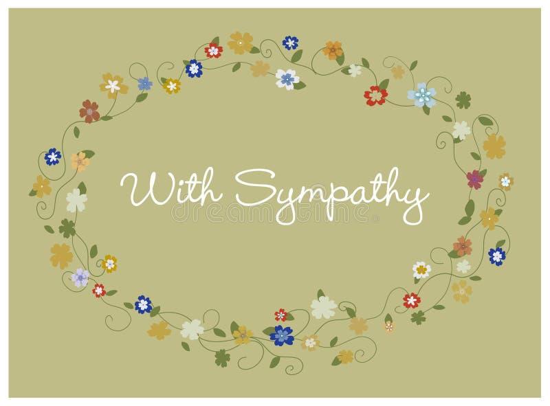Sympathy card stock illustration