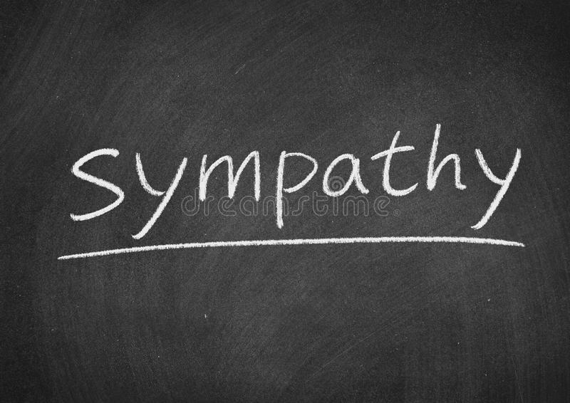 Sympathy. Concept word on a blackboard background stock photo