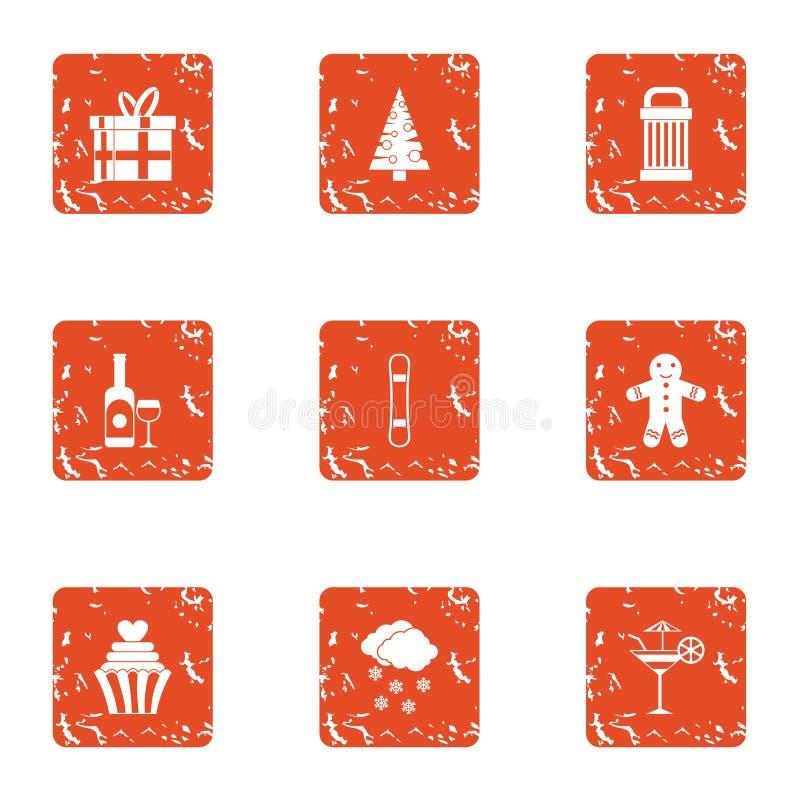Sympatii ikony ustawiać, grunge styl ilustracja wektor
