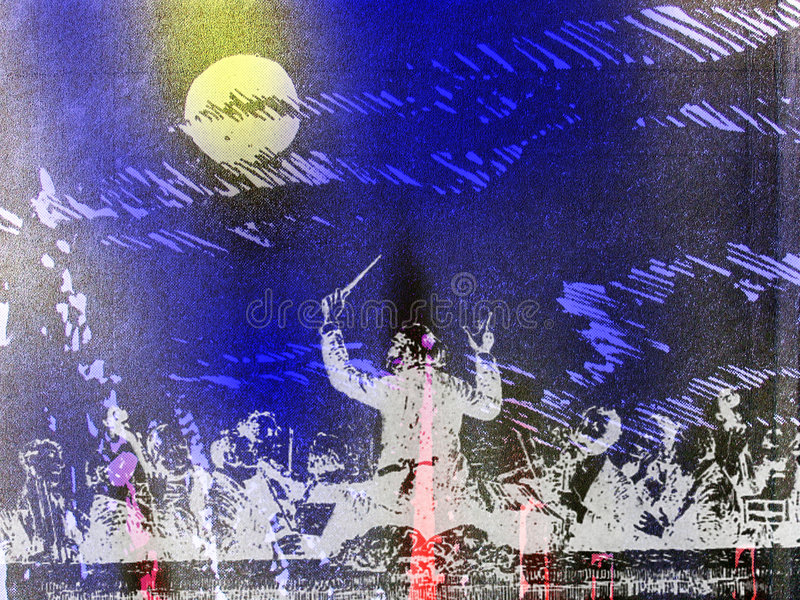 Symphonic orkester vektor illustrationer