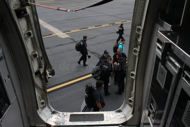 Symphonie Woodwind 1564 de la police fédérale mexicaine photographie stock