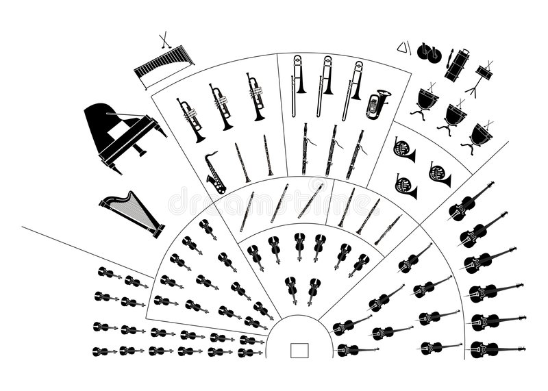 Download Symphony orchestra stock illustration. Image of horn, icon - 1887042