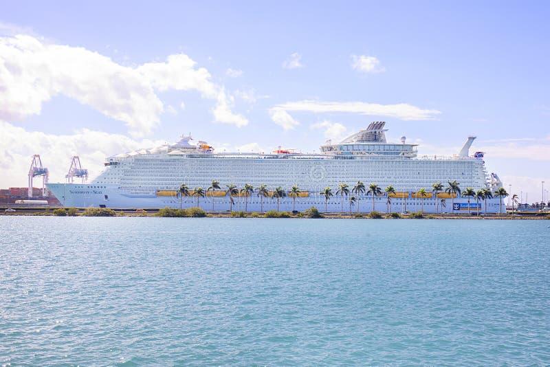 Symphony Of The Seas, Miami royalty free stock image
