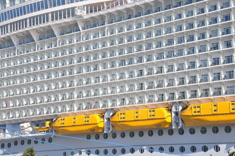 Symphony of the Seas. Royal Caribbean International cruise ship docked in Nassau, Bahamas royalty free stock photography