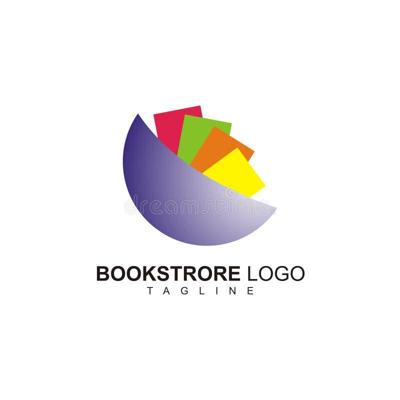 Symple bookstore logo gotowy używać royalty ilustracja