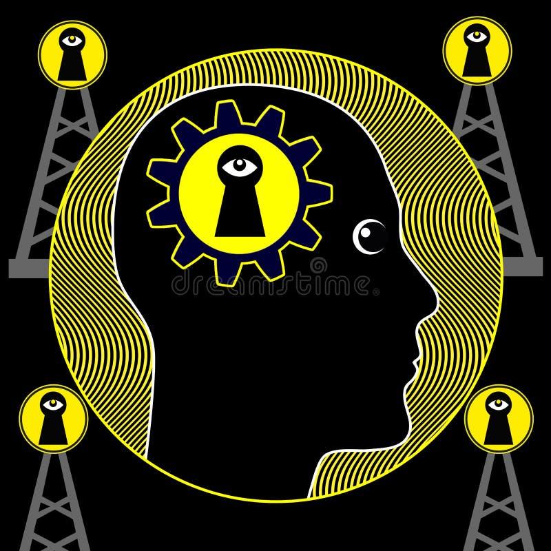 Symptômes de la schizophrénie paranoïde illustration libre de droits
