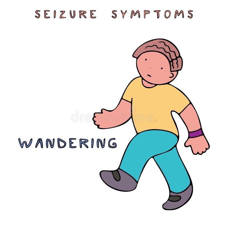 Symptômes de saisie d'épilepsie illustration de vecteur