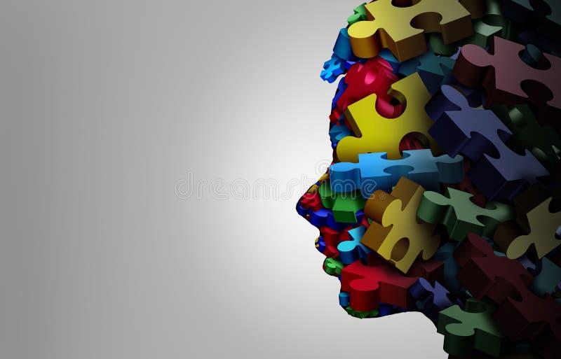 Symptômes et autisme autistes d'enfant illustration de vecteur