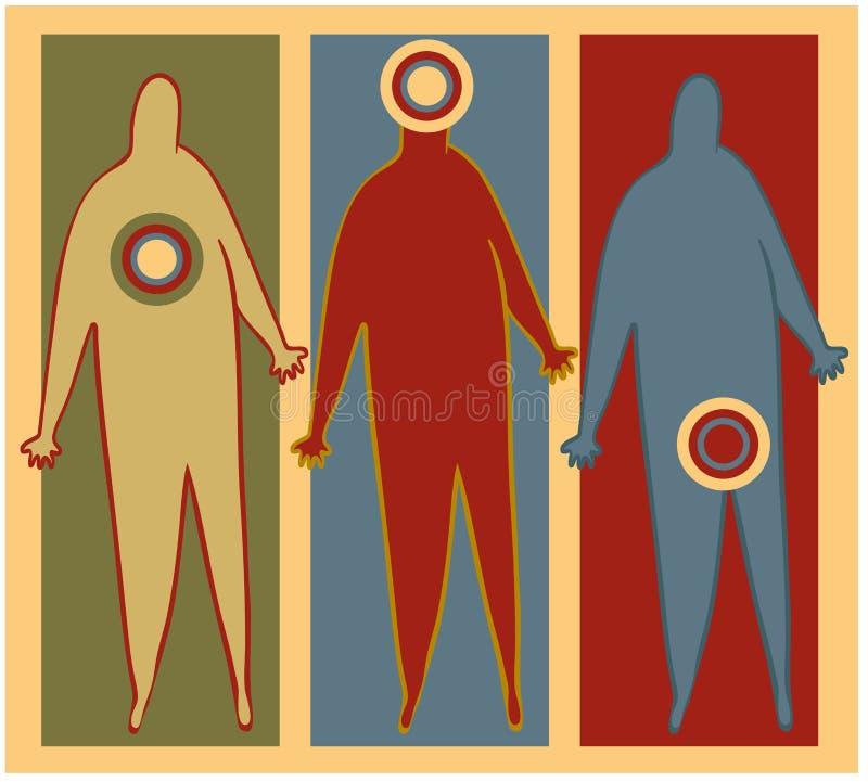 Symptômes illustration de vecteur