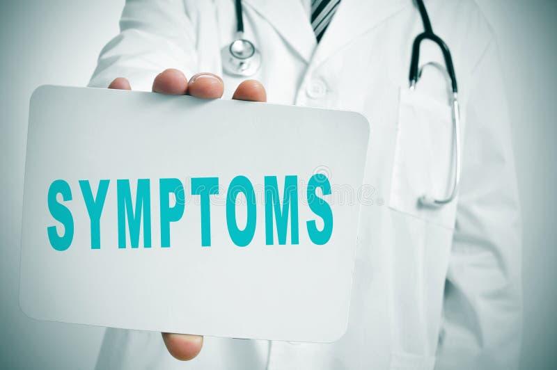symptomen royalty-vrije stock foto's