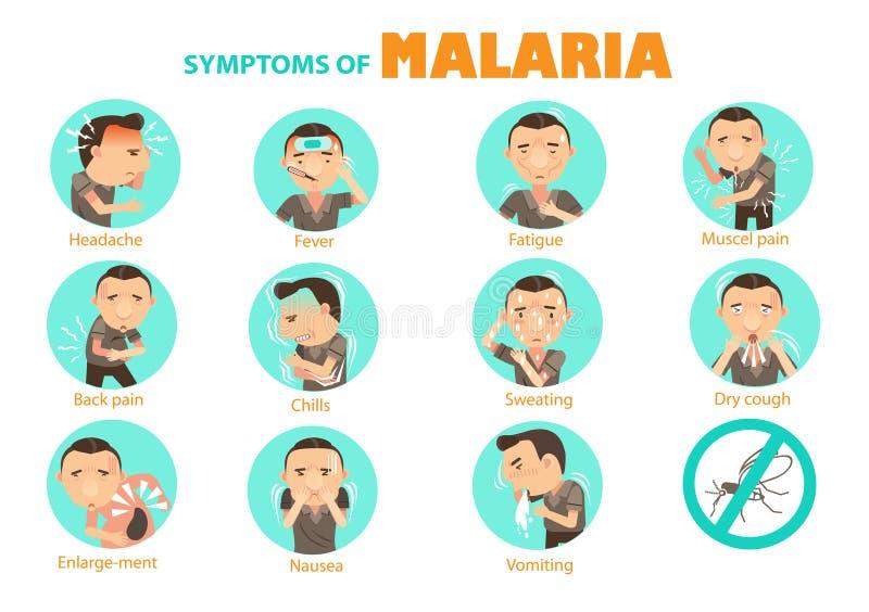 Symptomenmalaria vector illustratie