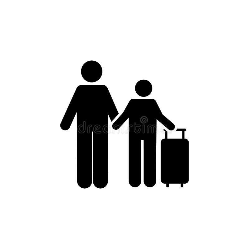 Syn, mężczyzna, podróż, hotelowa ikona Element hotelowa piktogram ikona Premii ilo?ci graficznego projekta ikona znaki i symbole  ilustracji