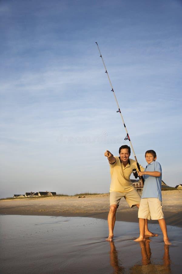 syn połowowego ojca fotografia stock
