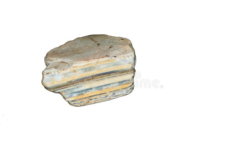Syn-sedimentaire steen met Lagen stock foto