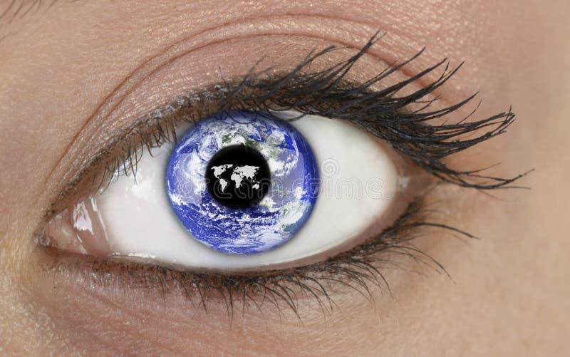 Syna med planetjord arkivfoton