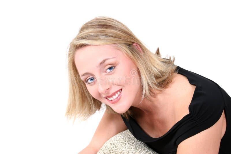 synad blond blue royaltyfri fotografi