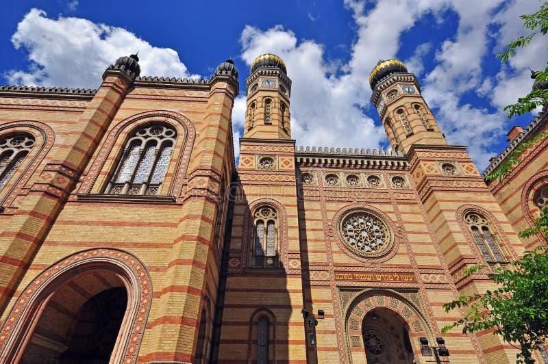Synagoga av Budapest royaltyfri bild