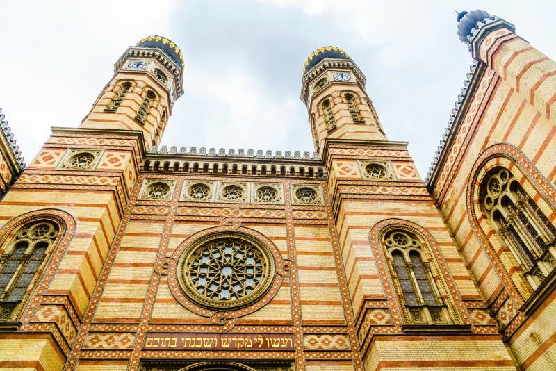 Synagoga av Budapest i Ungern royaltyfria foton