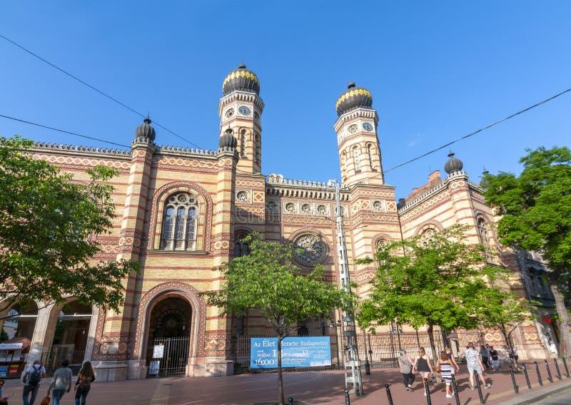 Synagoga budynek w centrum Budapest, Węgry obrazy royalty free