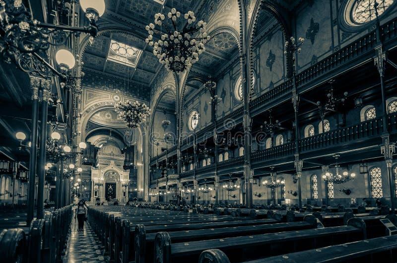 Synagoga i Budapest, Ungern, Europa royaltyfria bilder