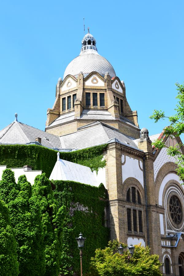 Synagoga i Novi Sad, Sebia royaltyfri bild