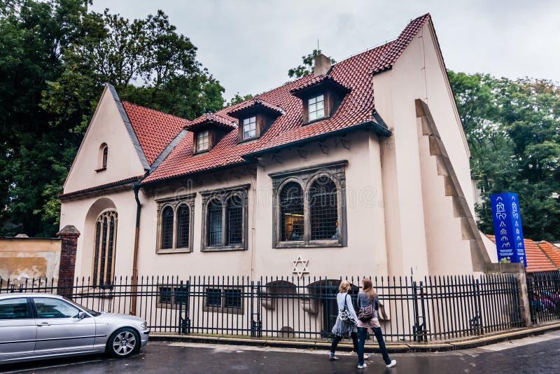 Synagoga Pinkas w Pradze obraz royalty free
