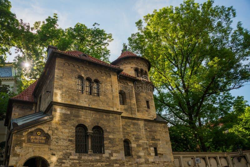 Synagoga Staronova Старая новая синагога в Праге в чехии Квартал Праги еврейский стоковые изображения rf