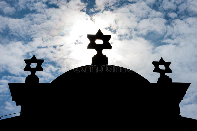 Synagoga Trebic royaltyfri fotografi