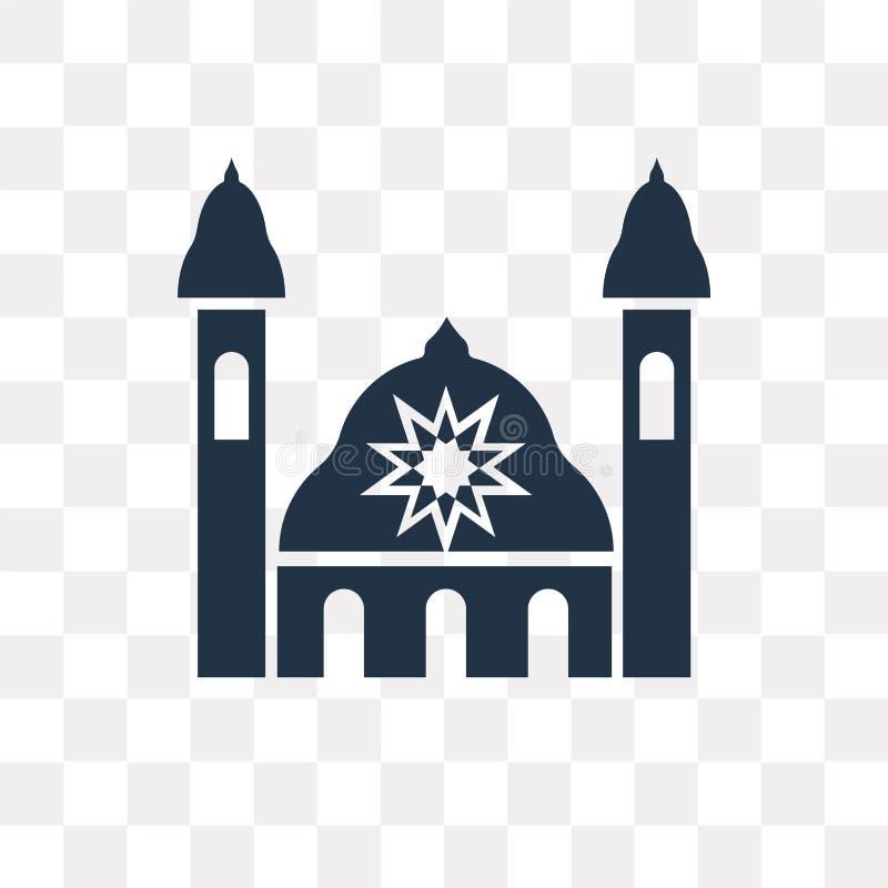 Synagoga wektorowa ikona odizolowywająca na przejrzystym tle, Synago royalty ilustracja