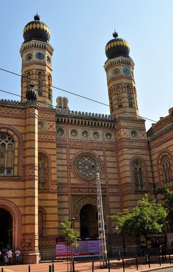 Synagogan för gata för Dohà ¡ den ny eller den stora synagogan - Budapest royaltyfri foto