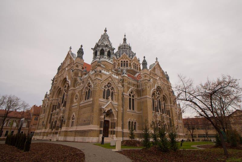 Synagogan i Szeged, södra Ungern arkivfoto