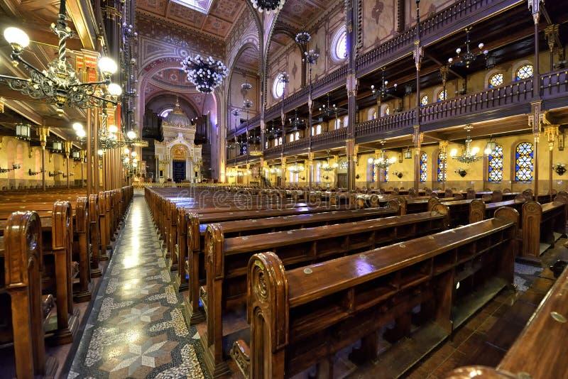 Synagoge in Boedapest stock afbeeldingen