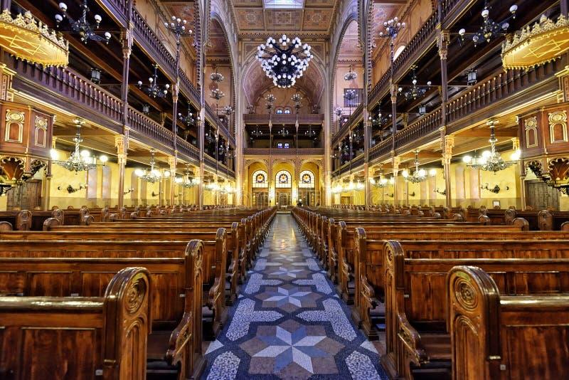 Synagoge in Boedapest stock afbeelding