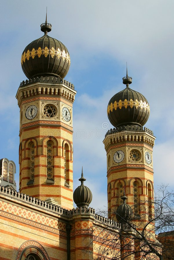 Synagoge Budapest lizenzfreies stockfoto