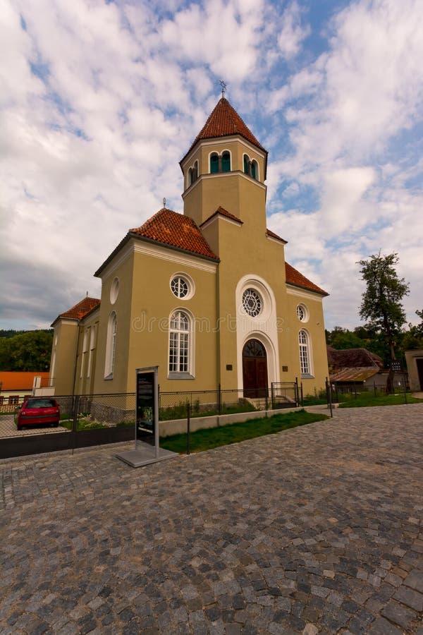 Synagoge Cesky Krumlov lizenzfreie stockfotografie