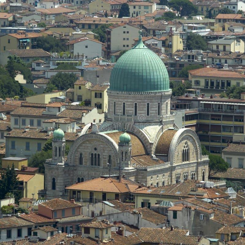 Synagoge Florence stock foto