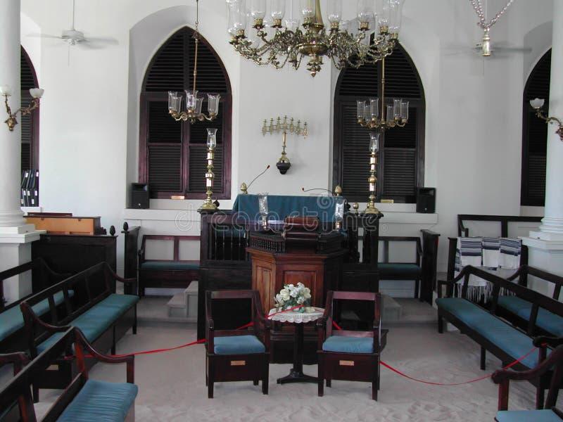 Synagoge Hebreeuwse Congregatie van St Thomas stock foto's