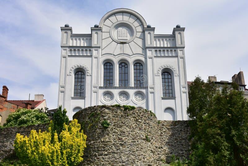 Synagoge Hranice, Tsjechische republiek royalty-vrije stock afbeeldingen