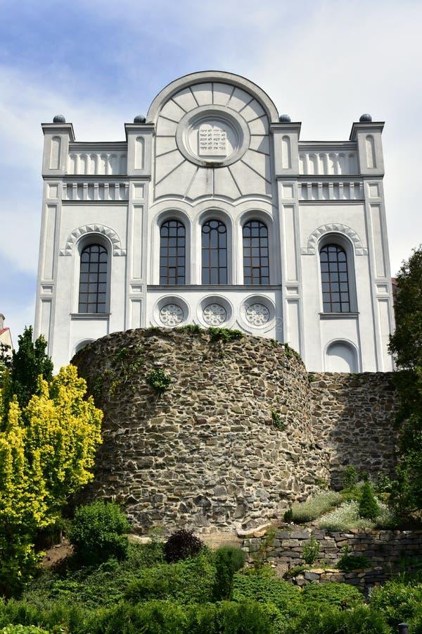 Synagoge Hranice, Tsjechische republiek royalty-vrije stock fotografie